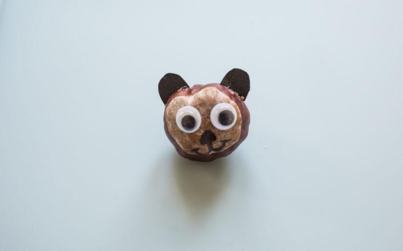 Kastanientiere basteln – Bär